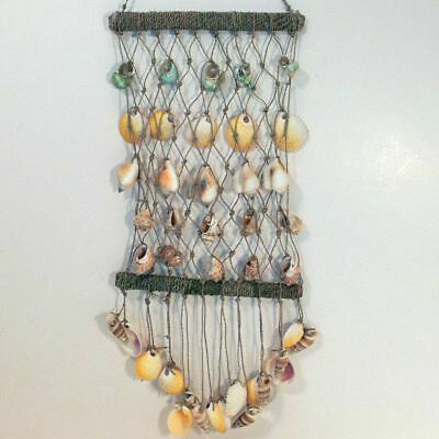 Net of Sea Shells Boho Coastal Wall Hanging Home Decor Wall Art