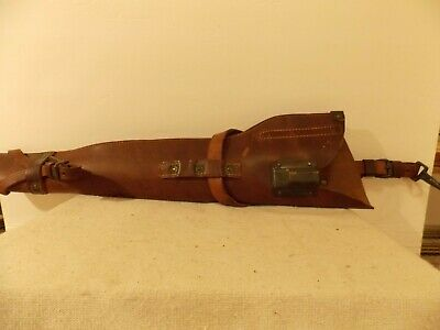 WWII US ARMY M1938 Leather Jeep Rifle Scabbard w/Straps  M1 Carbine - Dated 1944