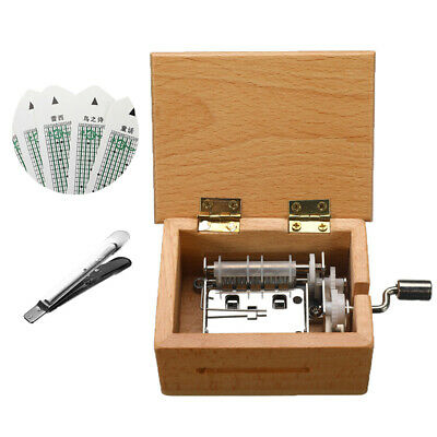 DIY Hand-cranked Music Box Wooden Box Hot Gift With Hole Puncher And Paper Tapes