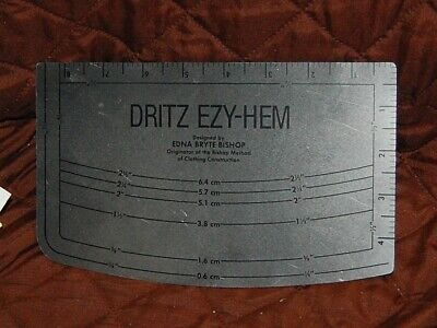 Dritz Ezy-Hem Edna Bryte Bishop Clothing Construction Measuring Hem Tool
