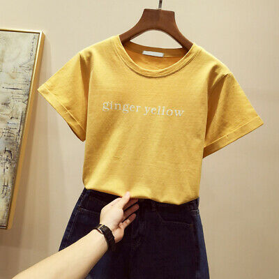 2019 korean style new cotton short sleeve t-shirt women's hot spring clothes loo