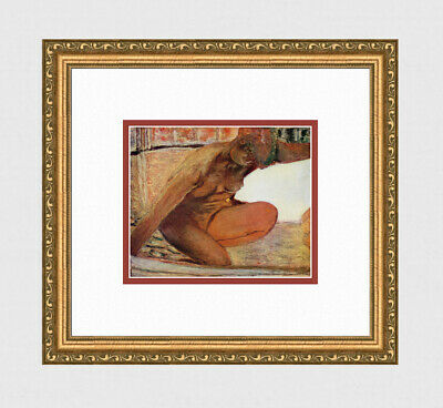 "Enticing Pierre BONNARD 1947 Antique Print ""Nude Kneeling in the Tub"" FRAMED COA"