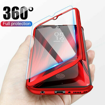 For Samsung Galaxy A30 S9 S10 Plus Note 10 360° Full Cover Case +Tempered Glass
