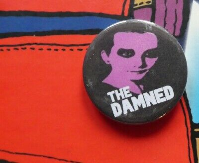 25mm BUTTON BADGE PUNK ROCK THE DAMNED NEW ROSE SMASH IT UP DAVE VANIAN NASTY