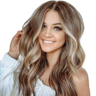 AU Women Natural Fashion Full Hair Wigs Long Curly Wavy Ombre Wig Cosplay Party