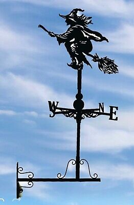Wall mounted Weathervanes Floor standing Steel witch on broom Weathervane Gifts