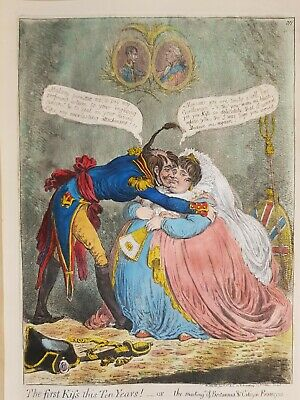 "James Gillray "" The First Kiss This Ten Years !."""