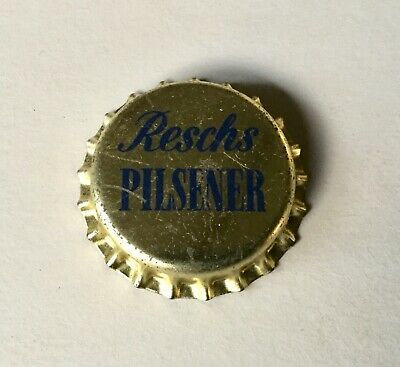 Resch's Pilsener. Crown Seal. Bottle Cap. Cork Seal Unused.