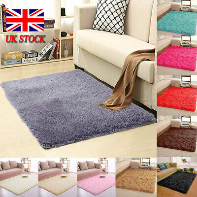 Soft Cosy Shaggy Rugs Fluffy Living Room Area Carpets Bedroom Runners 5cm Pile