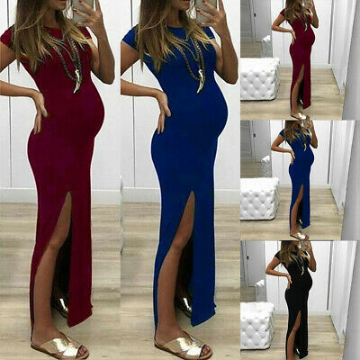 Womens Pregnant Long Maxi Dress Maternity Gown Party Pregnancy Photography Prop