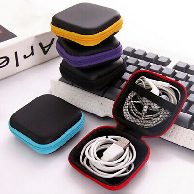 Portable EVA Square Carrying Hard Storage Case Box For Earphone Data Cable Bag