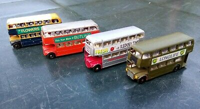 Matchbox Lesney No.5 Routemaster Buses x4 Vintage Diecast Repainted