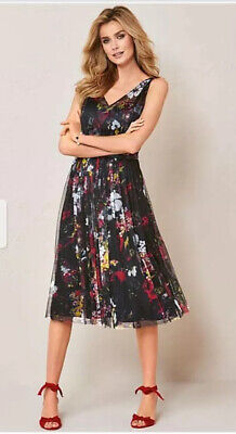 Kaleidoscope~Black Net Ballerina Party Dress Sizes 10-12   ~ R14