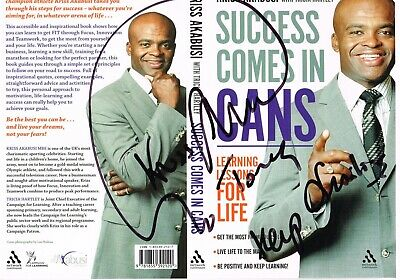Kriss Akabusi Athletics Cover Signed 8.5 X 11.5 Inch Dvd Cover .