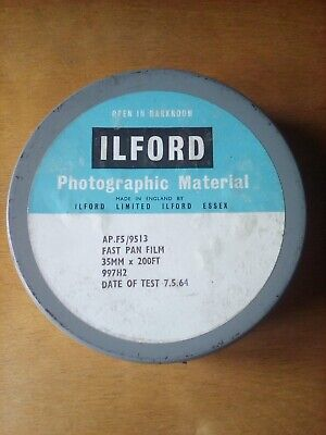 Bulk Roll Vintage Ilford AP.F5 Fast Pan 35mm Camera Film 200ft 7.5.1964 Expired