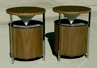 Zenith Circle of Sound Mid-century Modern OmniDirectional Stereo Speakers 1964