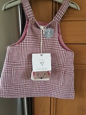Next Girls Check Pinafore With Tights Age 9-12 Months