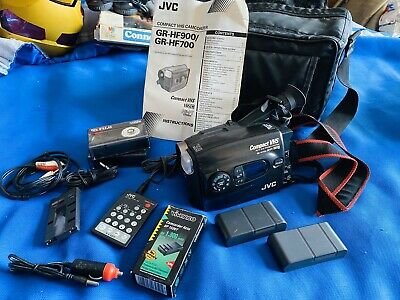 JVC camcorder GR-HF700E With Remote 2 Tapes 3 Batteries