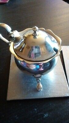 Solid Silver Mustard Pot, Hallmarked and in Good Condition