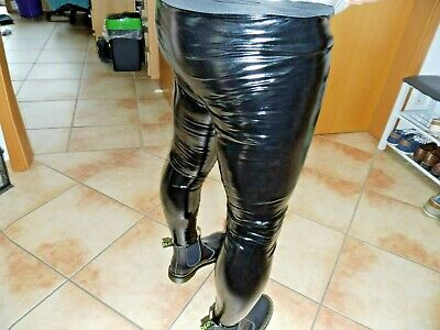 Extrem Enge 4 Wege Stretch Lack-Leggings Bondage Fetisch Gay Punk Pants