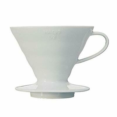 HARIO coffee dripper V60 02 ceramic white coffee drip 1 to 4 cups for VDC-02W