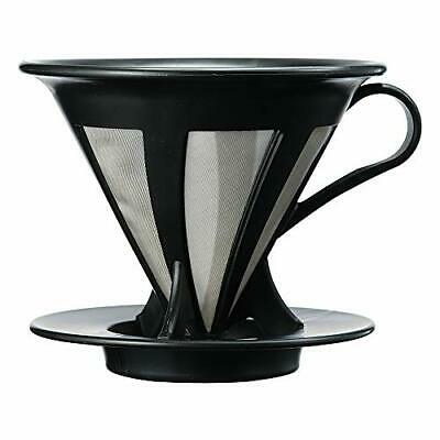 HARIO CFOD-02B dripper cafe All coffee black for drip 1 to 4 cups