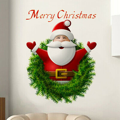 Merry Christmas Santa Claus Wall Stickers Decal Home Window Store Decoration US