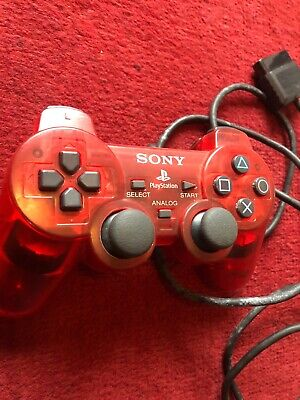 Sony Playstation 2 PS2 Red Translucent Controller Great Condition Rare!