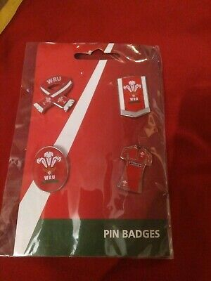 Welsh Rugby Union Pin Set