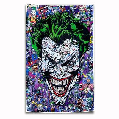 Comic Books Joker HD Canvas Prints Painting Home Decor room Wall Art Picture