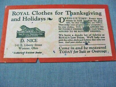 D Nice Clothing Store Blotter Wooster Ohio