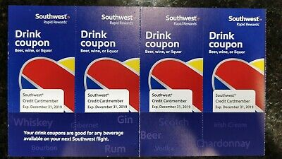 Southwest Drink Coupon (4 Pack) Expire December 30, 2019