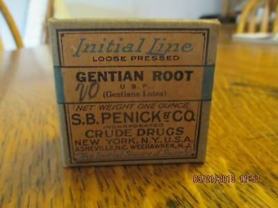 Antique Box Gentian Root By S. B. Penick & Co New York