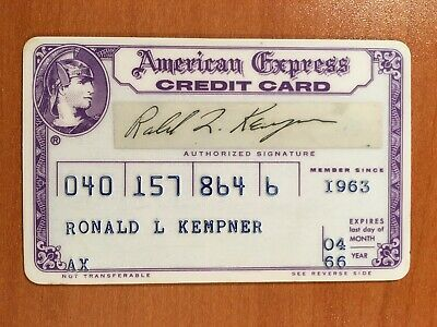 1966 Purple Era Vintage American Express Card