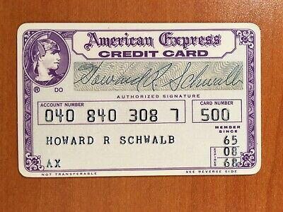 1968 Purple Era Vintage American Express Card