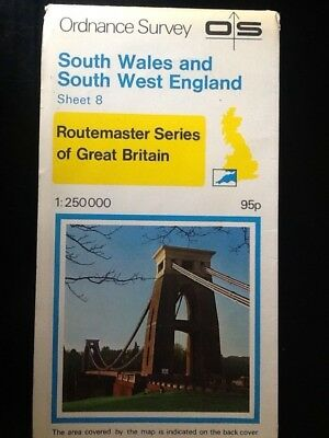 Ordnance Survey Os Vintage Map Sheet 8 South Wales And South West England 1978