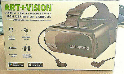Art+Vision Virtual Reality Headset Hd Built-In Earbuds Smartphone Compatible