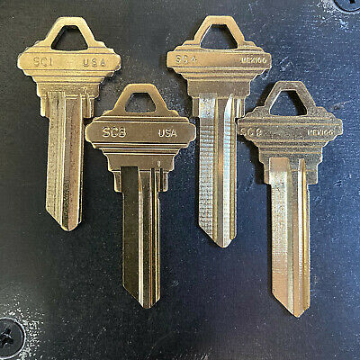 Schlage C & E Keyway SC1 SC4 SC8 SC9 House Keys Cut by Key Code - Bulk Pricing!