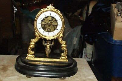 Rare French Cherub On Swing Clock spare or repair