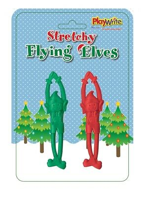 2 Stretchy Flying Elves - Stocking Toy Loot/Party Bag Fillers Childrens/Kids
