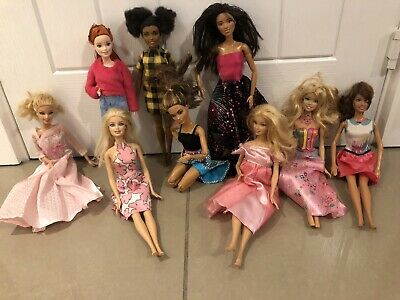 Barbie bundle 9 dolls Including Made To Move. Well Used.