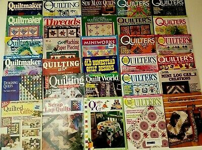 HUGE Lot of 30 Quilt Quilting Gift Sewing Magazines & Books Patterns 1984-2007