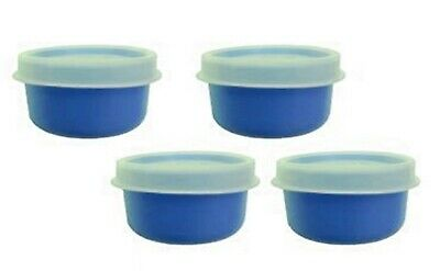 Tupperware FOUR 1-oz Smidget Pill Keeper Containers 4 Smidgets LT BLUE NEW