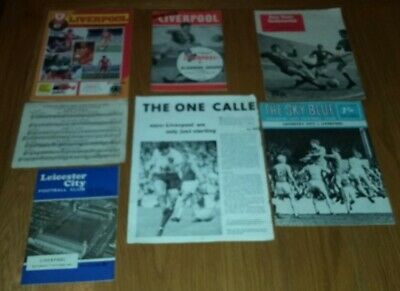 5 LIVERPOOL Football Programmes,Tommy Smith signed photo,  Ron Yeats Testimonial