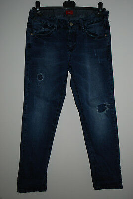 s.Oliver | coole Jeans STRETCH verstellbarer Bund | Gr. 146 152 158 DESTROYED