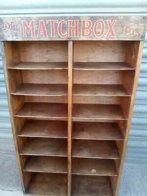 Rare vintage Matchbox Toys shop counter display  case.