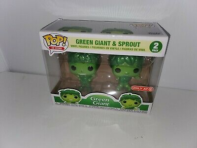 Funko Pop! Green Giant & Sprout Metallic~ Target Exclusive~ 2 Pack~