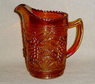 """Imperial Grape & Cable Carnival Glass Pitcher (6 1/2"""" To Of Spout)"""