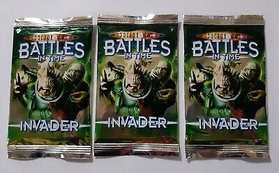 Dr Who Cards - Battles In Time - 3 Invader Booster Packs Brand New Sealed