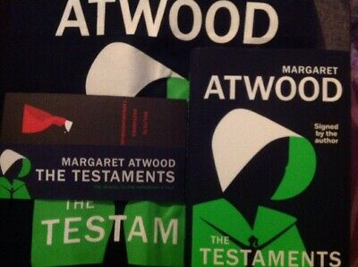 SIGNED The Testaments HB Book Margaret Atwood tote bag BOOKER PRIZE WINNER 1/1